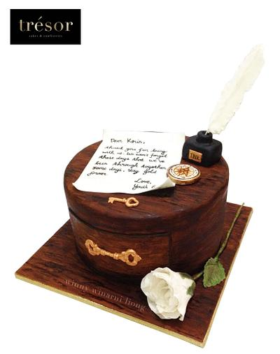 Victorian Wooden Drawer Cake - Cake by Trésor Cakes & Confiseries