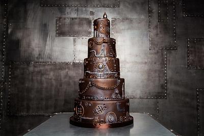 Steampunk Wedding Cake by Maria Magrat - Cake by Maria Magrat