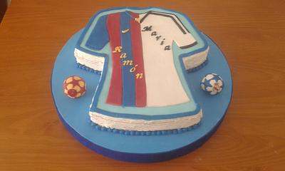CAKE ABOUT  BARÇA MADRID - Cake by Camelia