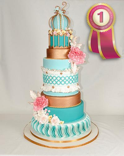 the no.1 wedding cake in the Montreal cakeshow 2012 - Cake by Véronique