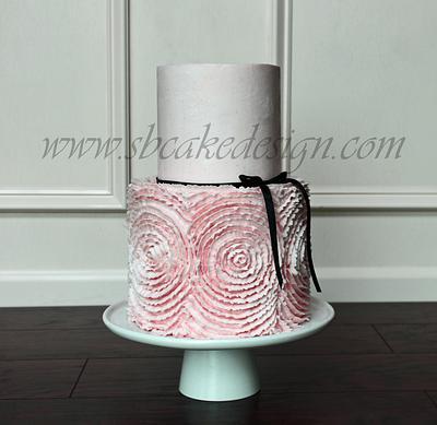 Buttercream Rosette Cake - Cake by Shannon Bond Cake Design
