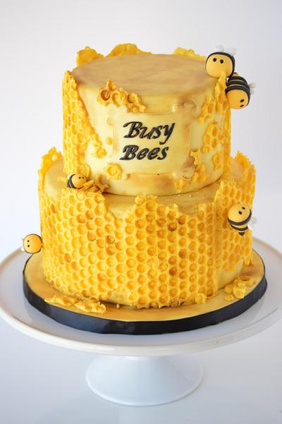 Honeycomb Bee Cake - Cake by SugarBritchesCakes