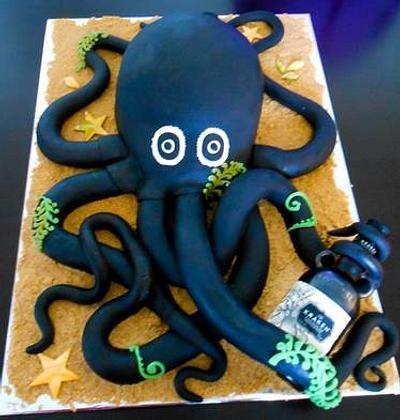 Kraken Octopus Cake - Cake by Suzanne Jackman