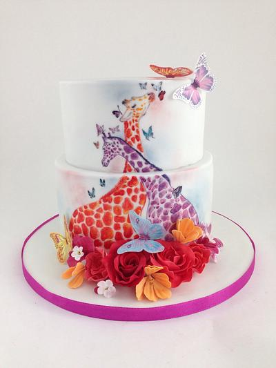 Giraffes in love - Cake by tomima