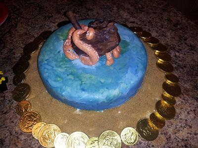 Sunken Pirate Ship Cake - Cake by Cake Setz