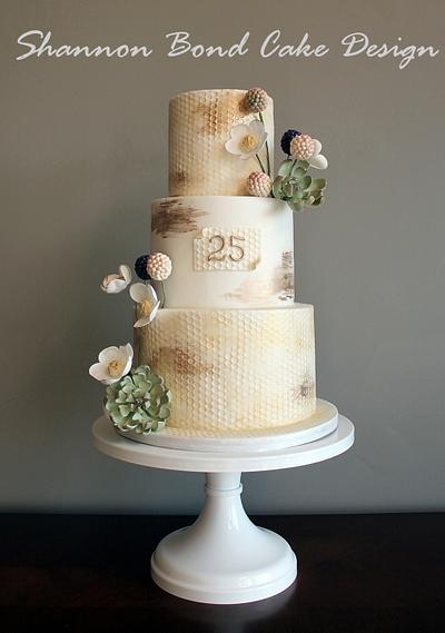 Psalm 19 Anniversary Cake - Cake by Shannon Bond Cake Design