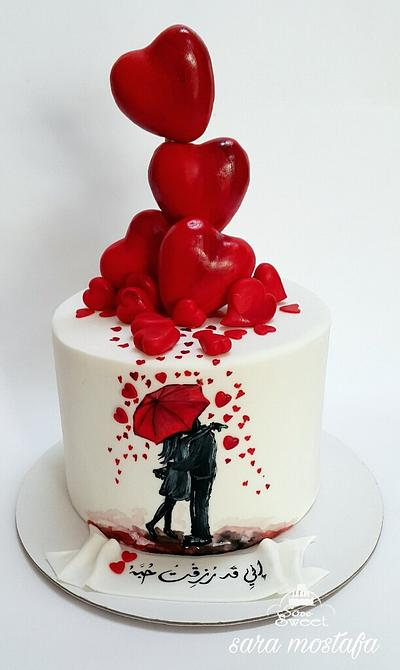 Anniversary cake - Cake by Sara mostafa