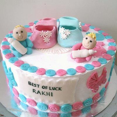 Baby shower cake - Cake by Urvi Zaveri