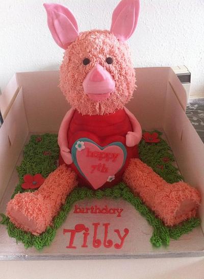 piglet - Cake by Amanda Forrester