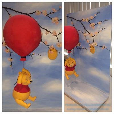 Winnie the Pooh floating from balloon - Cake by Annie Cakes