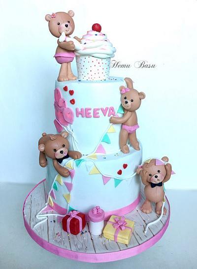Teddy bear party planners!  - Cake by Hemu basu