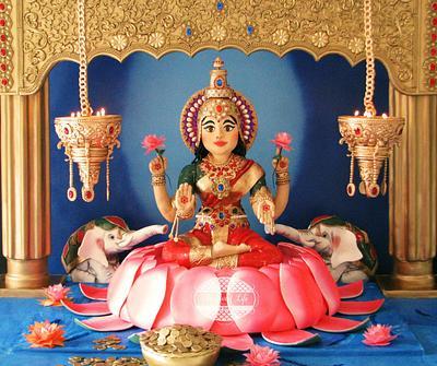Goddess Lakshmi cake from Festival of Lights Colloboration - Cake by Julie Tenlen