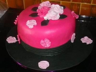 gâteau fleuri - Cake by Séverine