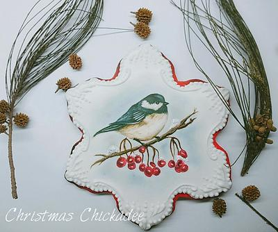 Christmas Chickadee  - Cake by Cookies by Joss
