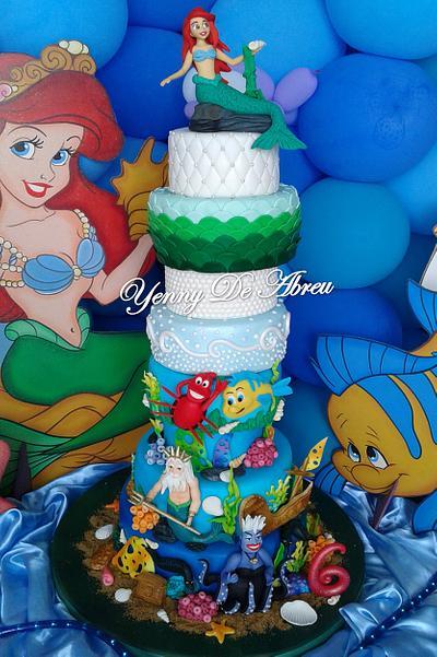 Little Mermaid cake - Cake by yenny de abreu