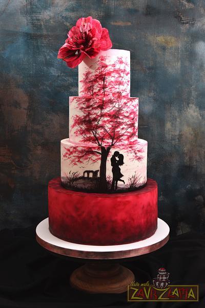 Silhouette Wedding Cake - Cake by Nasa Mala Zavrzlama