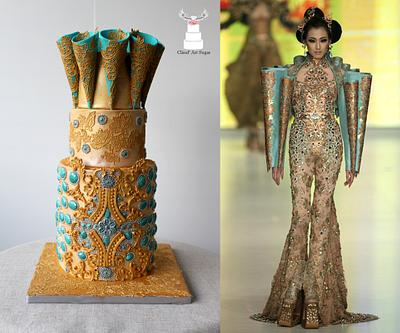 """Couture Cakers International 2018 - """"Jewel""""  - Cake by Cláud' Art Sugar"""