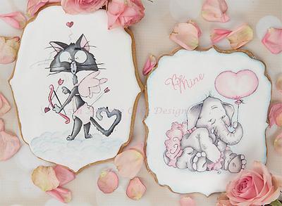 Sweet Valentines Cookies Cards 💝🐘🏹 - Cake by Bobbie