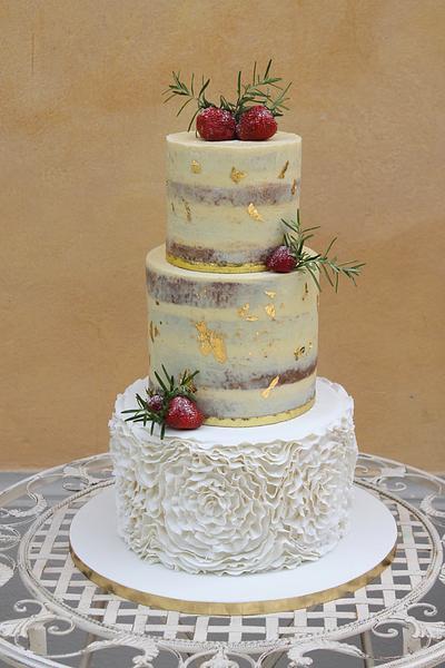 """""""Seminaked Ruffle Love"""" - Cake by Betty's Bakery (molecular sensations)"""