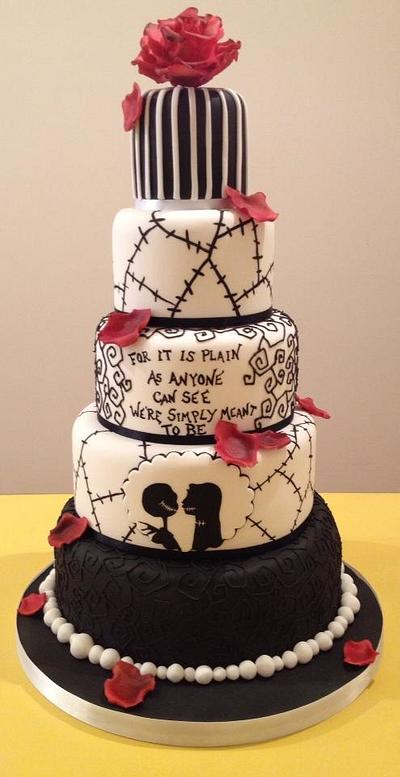The NIghtmare Before Christmas Wedding cake - Cake by The Cake Lady