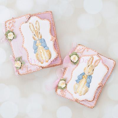 Vintage Dimensional Peter Rabbit Cookie Cards 🐰🌷🌱 - Cake by Bobbie