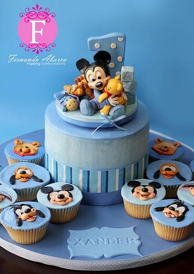 Mickey's First Birthday Cake - Cake by Fernanda Abarca