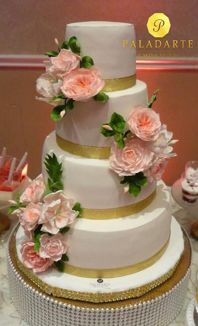 Wedding Cake & dessert table - Cake by Paladarte El Salvador