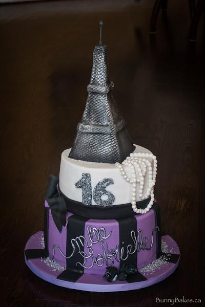 Paris themed sweet 16 cake - Cake by BunnyBakes