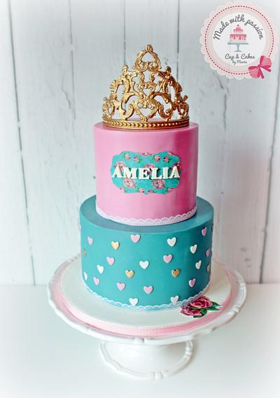 Little Princess 1st birthday - Cake by Maria *cakes made with passion*
