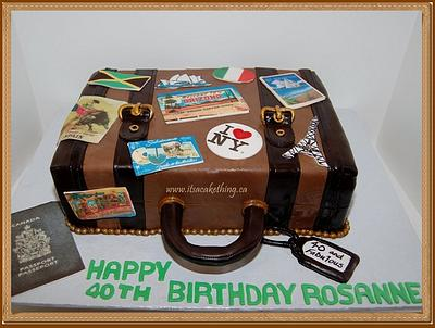 Suitcase Travels Birthday Cake - Cake by It's a Cake Thing