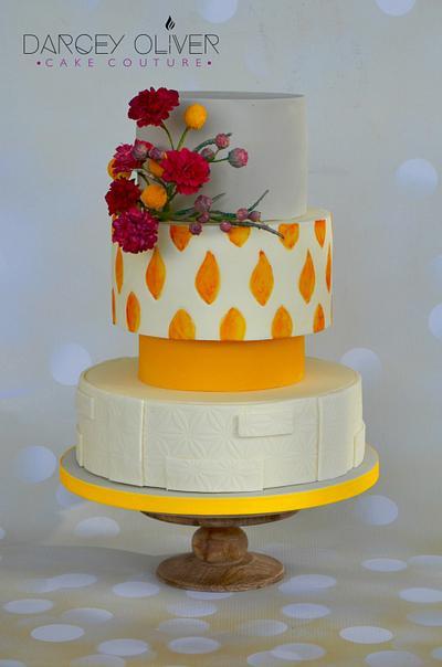 Mid Century Modern - Cake by Sugar Street Studios by Zoe Burmester