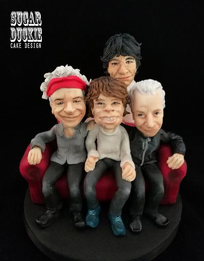 Rolling Stones Cake Topper - Cake by Sugar Duckie (Maria McDonald)