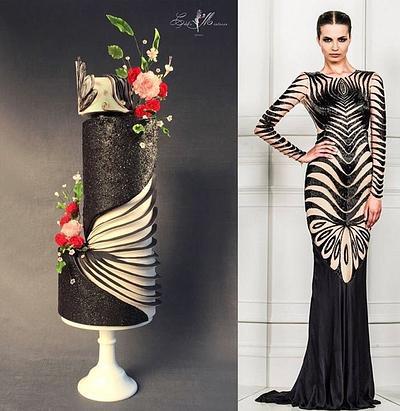 Zuhair Murad fashion cake  - Cake by Nuria Moragrega - Cake Mistress