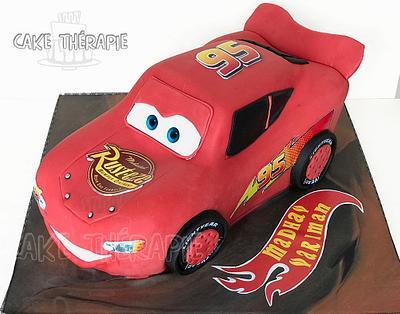 3D Lightening McQueen. - Cake by Caketherapie
