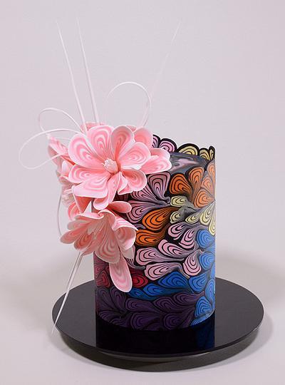 Yeners Sliced Fondant Pattern Technique - Cake by Serdar Yener   Yeners Way - Cake Art Tutorials