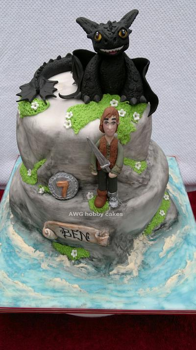 """""""Dragons of Berk"""" for Ben - Cake by AWG Hobby Cakes"""