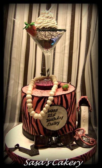 Strawberry Martini Cake - Cake by Sara