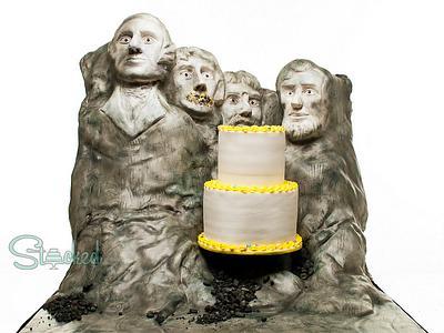 Mount Rushmore Birthday Cake!  - Cake by Stacked