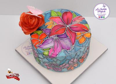 Edible stained glass  - Cake by Sarahy Millán