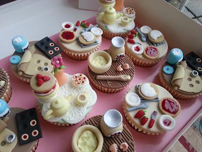 Baking Just Like Grandma Cupcakes - Cake by Elaine's Cheerful Colourful Cupcakes