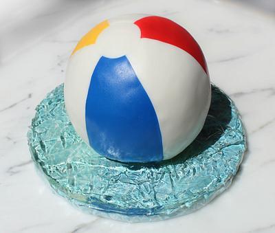 Beach Ball Cake - Cake by Otchcakes