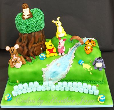 Winnie the Pooh at home - Cake by Cakes By Heather Jane