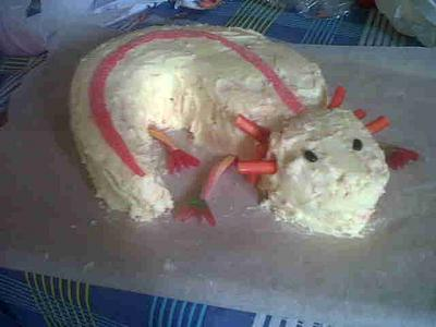 Axolotl Cake - Cake by FreyyCakes