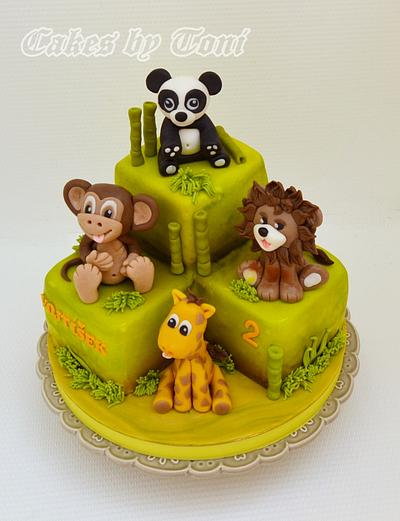 Jungle animals - Cake by Cakes by Toni