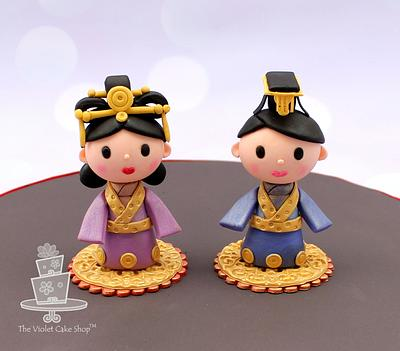 Empress & Emperor of CHINA Toppers for It's a Small World Collab - Cake by Violet - The Violet Cake Shop™