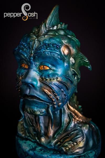Johnphibius @Under The Sea Sugar Art Collaboration - Cake by Pepper Posh - Carla Rodrigues