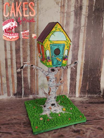 Grandma's Birthday Birdhouse - Cake by Cakes By Kristi