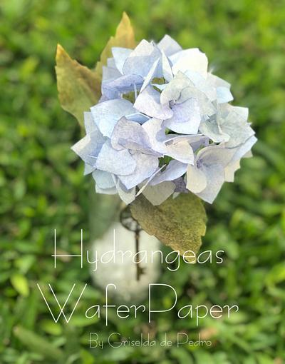 Hydrangeas wafer Paper  - Cake by Griselda de Pedro