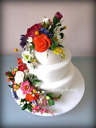 Svatebni dort - Cake by Ivciny dortiky