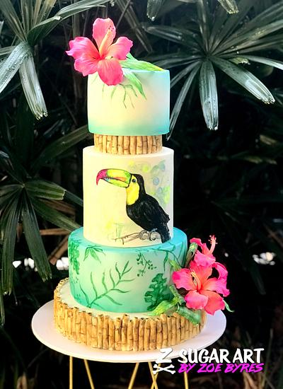 Toucan Tropics - Cake by Zoe Byres